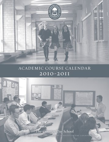 ACADEMIC COURSE CALENDAR - The Country Day School