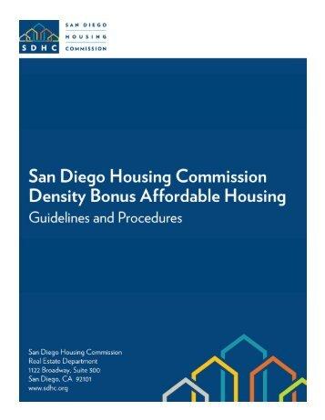 Density Bonus Procedures Manual - San Diego Housing Commission