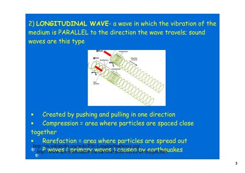 3 TYPES OF MECHANICAL WAV
