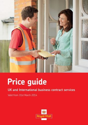 Business Contract Services Price Guide 2013 - Royal Mail