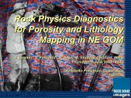 Rock Physics for Fluid and Porosity Mapping in NE GoM - Presentation