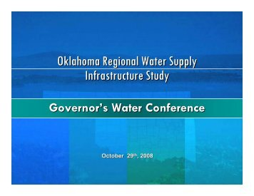 The Central Oklahoma Project - Water Resources Board