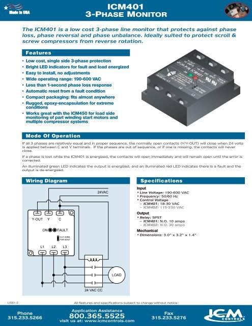 Icm401 3-phase Monitor