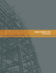 2008 Annual Report - Empire Industries