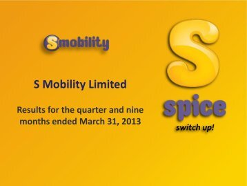 S Mobility Limited - Si2iMobility