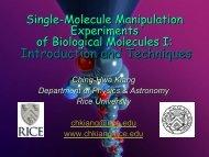 Single-molecule manipulation experiments of biological molecules 1