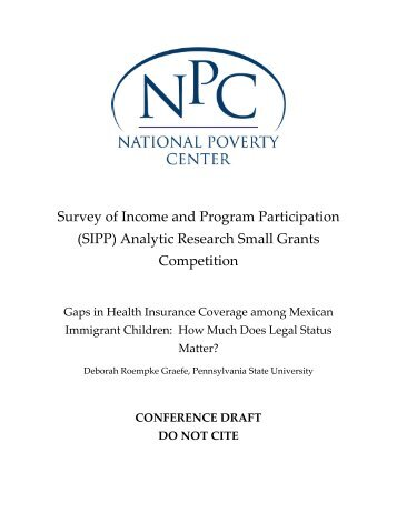 Download Draft - National Poverty Center