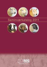 Seminværkatalog 2011 - NSG Semin - Norsk Sau og Geit