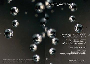 inside_marenas.newsletter 02 / 2013 - marenas consulting