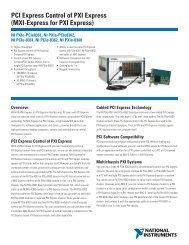 PCI Express Control of PXI Express (MXI-Express for PXI Express)