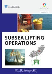SUBSEA LIFTING OPERATIONS