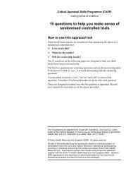 Critical Appraisal Skills Programme (CASP)