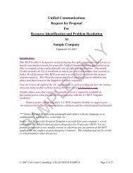 UC RFP Template Sample - UCStrategies.com