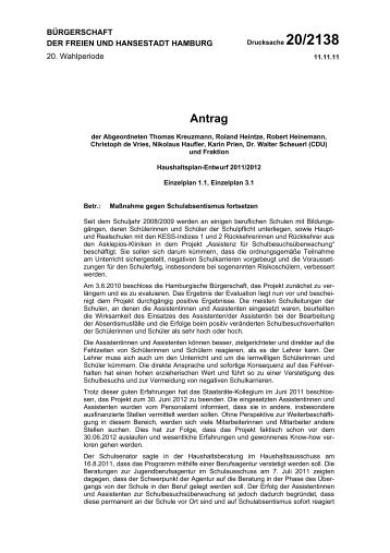 Antrag - Roland Heintze MdHB