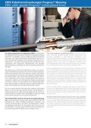 EMV Kabelverschraubungen Progress® Messing EMC cable glands ...