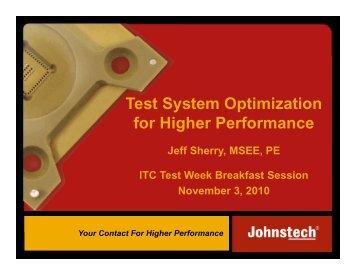 Test System Optimization for Higher Performance - Johnstech