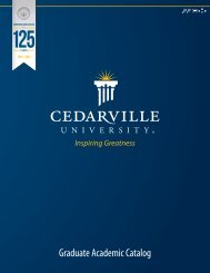 Graduate Academic Catalog - Cedarville University
