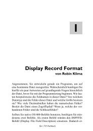 ormat Display Record Format - MIDRANGE SHOP
