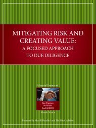 Mitigating Risk and Creating Value Contributor Bios