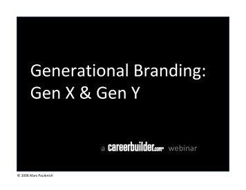 Generational Branding: Gen X & Gen Y - Icbdr