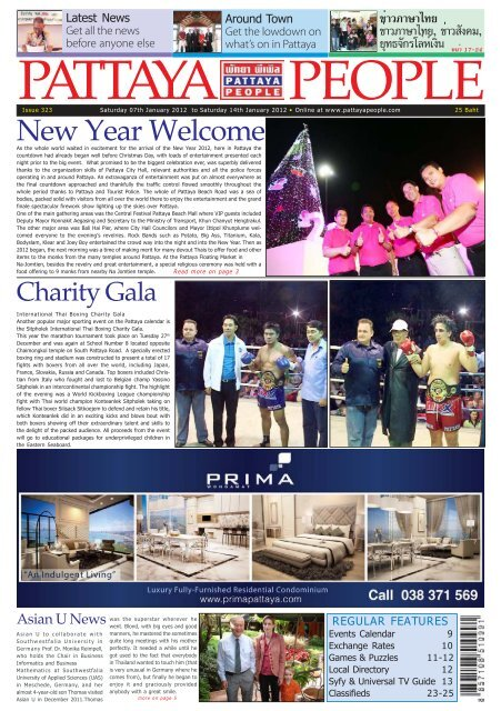 New Year Welcome - Pattaya People