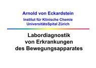 Labordiagnostik von Erkrankungen des Bewegungsapparates