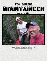 The Arizona - Arizona Mountaineering Club