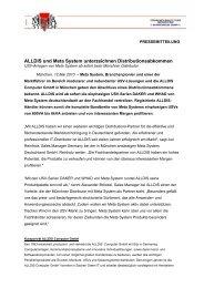 ALLDIS und Meta System unterzeichnen Distributionsabkommen
