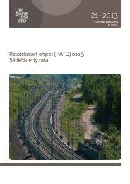 Ratatekniset ohjeet (RATO) osa 5 Sähköistetty rata - Liikennevirasto