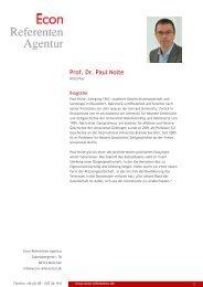 Prof. Dr. Paul Nolte - Econ Referenten-Agentur