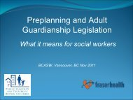 Adult Guardianship Act - BC Association of Social Workers