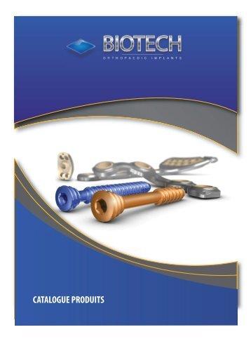 Catalogue produits - Biotech ortho