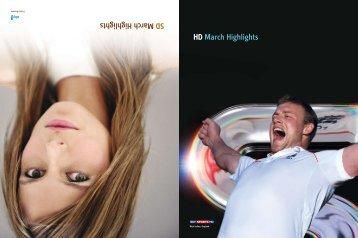 HD March Highlights SD Marc h Hi ghli ghts - Sky Communal TV
