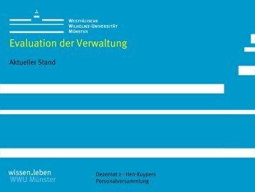 Evaluation der Verwaltung - Westfälische Wilhelms-Universität ...