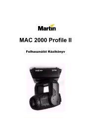 MAC 2000 Profile gépkönyv
