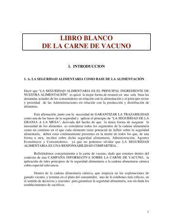 LIBRO BLANCO DE LA CARNE DE VACUNO