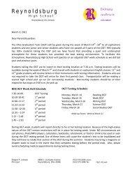Letter From Mr. Johnson - Reynoldsburg City Schools