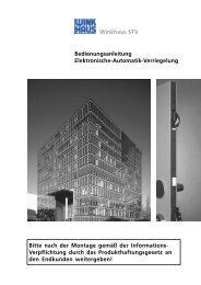 Winkhaus STV Bedienungsanleitung Elektronische-Automatik ...