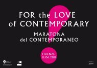 Programma For The Love Of Contemporary - Ministero per i Beni e ...