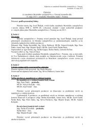 1 Zápisnica zo zasadnutia Mestského zastupiteľstva ... - Mesto Trstená