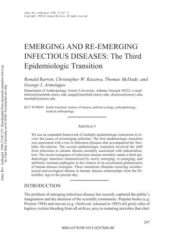 emerging and re emerging infectious disease Emerging and re-emerging infectious diseases threaten all countries ebola  hemorrhagic fever emerged in african villages schistosomiasis is re-emerging in .