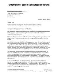 Offener Brief - Patentfrei.de