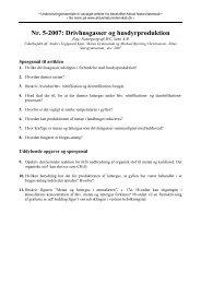 Nr. 5-2007: Drivhusgasser og husdyrproduktion - Aktuel ...