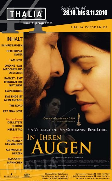 28.10. bis 3.11.2010 - Thalia Kino