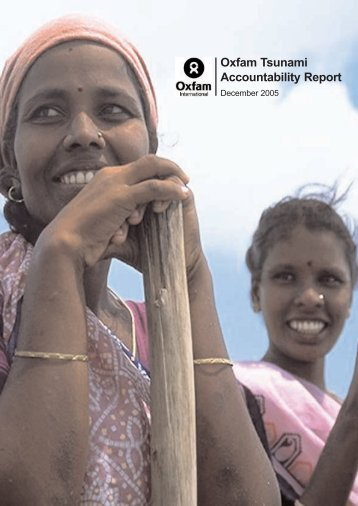 Oxfam Tsunami Accountability Report - Oxfam International