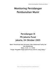 Monitoring Persidangan Pembunuhan Munir - KontraS