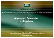 Governança Corporativa na Petrobras - Ministério do Planejamento ...