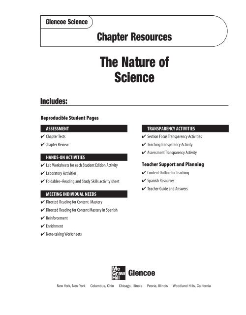 Chapter 1 Resource: The Nature of Science - Learning ...