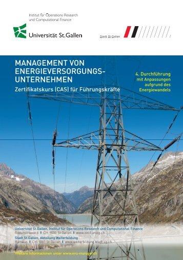 management von energieversorgungs- unternehmen - Executive ...