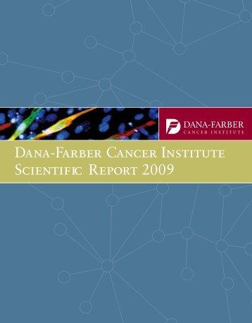 Dana-Farber Cancer Institute Scientific Report 2009